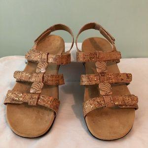 Vionic Women's Amber Sandals - Gold Cork